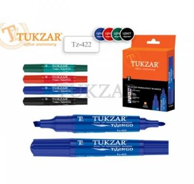 Маркер Tukzar  2-х сторонний скошенный перманентный