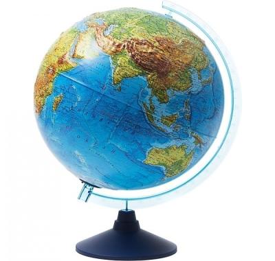 Глобус Globen Земли интерактивный Физико-Политический, рельефный,  с подсветкой