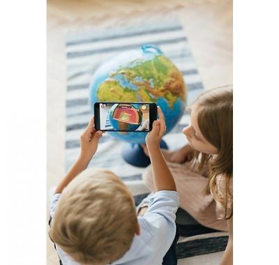 Глобус Globen Земли интерактивный, рельефный,  Физико-Политический  с подсветкой от сети