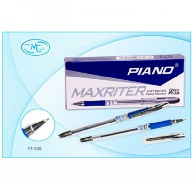 Ручка шариковая Piano Maxriter синяя 0,5мм резиновый держатель