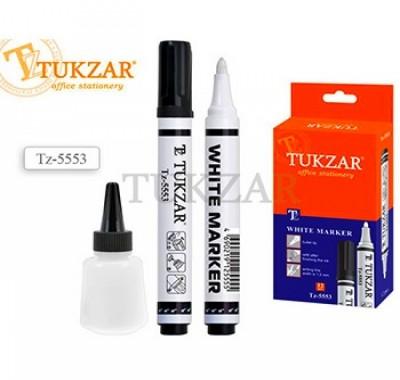 Маркер Tukzar белый 1,5мм перезаправляемый, перманентный