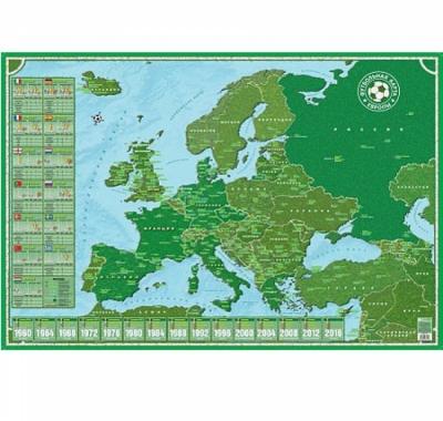 Карта настольная  Футбольная Европы