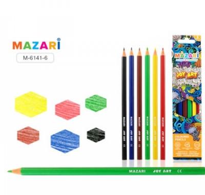 Карандаши Mazari Joy Art 6цв, шестигранные, деревянные
