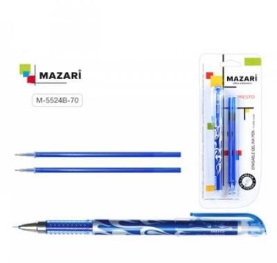 Ручка пиши-стирай Mazari Presto гелевая 0,5мм синяя + 2стержня 128мм
