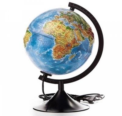 Глобус Globen Земли Рельефный, Физико-Политический  с подсветкой