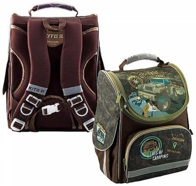 Рюкзак KITE 35*25*13см Off-road коричневый