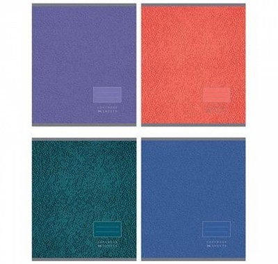 Тетрадь А5 96л БиДжи Цветная текстура (ассорти)
