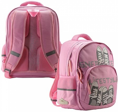 Рюкзак Bruno Visconti 30*40*19см Кеды-моя жизнь светло-розовый