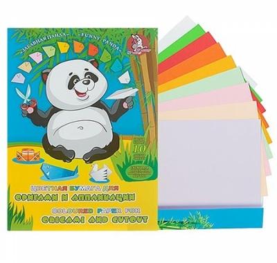 Бумага цветная А5 10л 10цв Лилия Холдинг для оригами и аппликаций