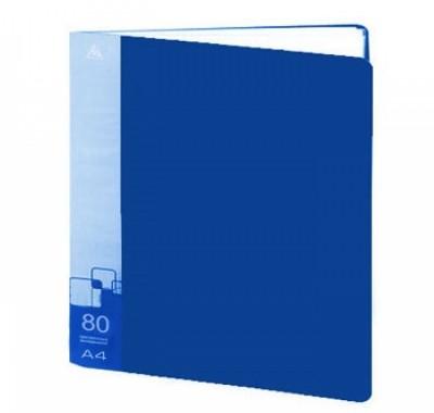 Папка 80 файлов Бюрократ А4,пластик