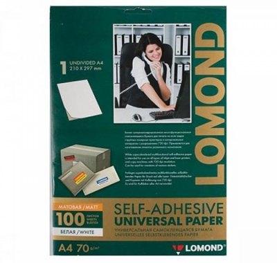 Этикетка самоклеящаяся Lomond 210*297мм, белые