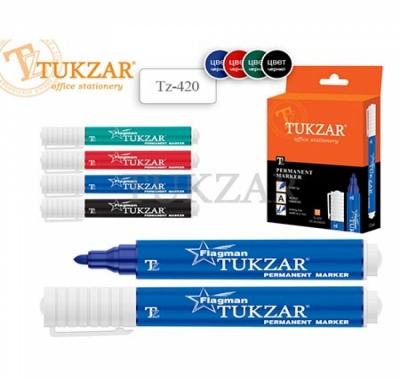 Набор маркеров Tukzar 4 цвета 2мм перманентные