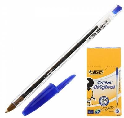 Ручка шариковая BiC Cristal Original  1,0мм, колпачок с клипом
