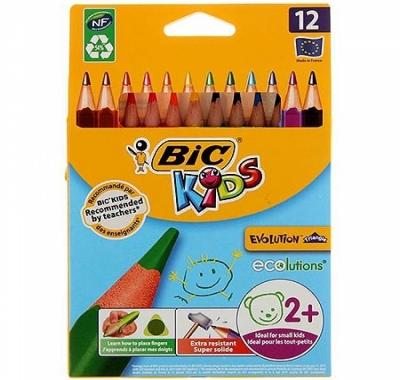 Карандаши BiC Kids Evolution Triangle 12цв утолщенные