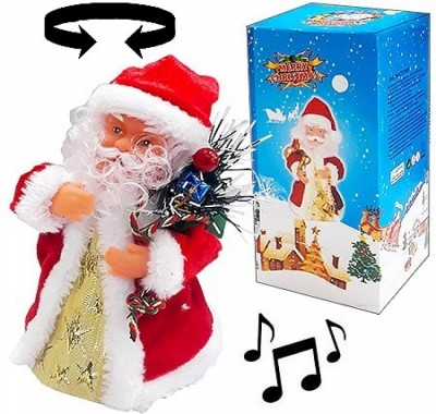 Дед Мороз KWELT 16см музыкальный, питание от 3 батареек ААА