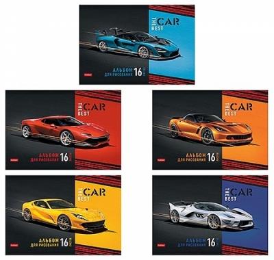 Альбом А4 16л Hatber Best car (ассорти)