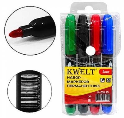 Набор маркеров KWELT 4 цвета 2,5мм