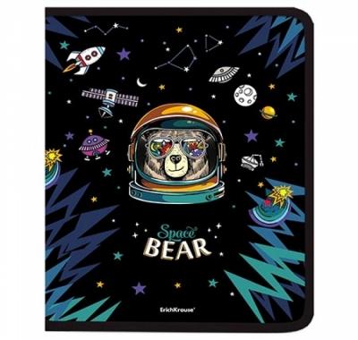 Папка на молнии А4+ Erich Krause Space Bear