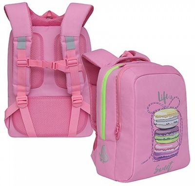 Рюкзак Grizzly 26*39*17см розовый