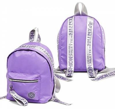 Рюкзак Hatber 33*25*16см Fashion Фиолетовый с серебром