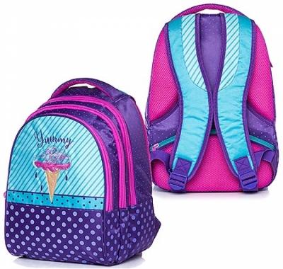 Рюкзак Hatber 30*42*20см Street Yummy! фиолетовый/голубой