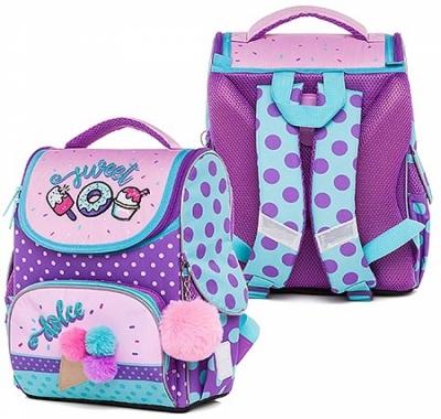Рюкзак Hatber 32*26*13см Balance Sweets розовый/фиолетовый