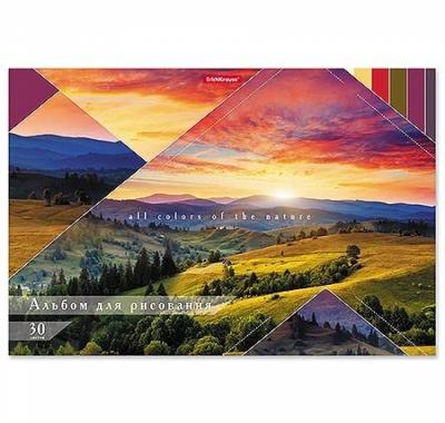 Альбом А4 30л жесткая подложка Erich Krause Краски природы