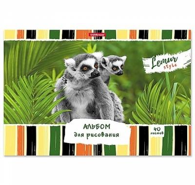 Альбом А4 40л жесткая подложка Erich Krause Lemur Style