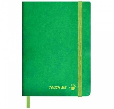 Записная книжка А5 на резинке искусстенная кожа 96л Феникс Термохром Зеленый