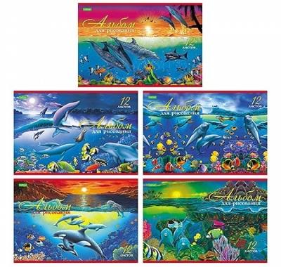 Альбом А4 12л Hatber VK Дельфины (ассорти)