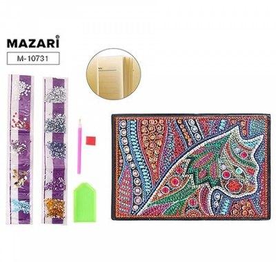 Блокнот А5 стразы 56л Mazari с орнаментом на обложке