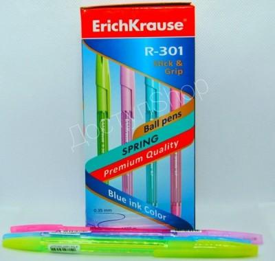 Ручка шариковая Erich Krause Grip Spring синяя