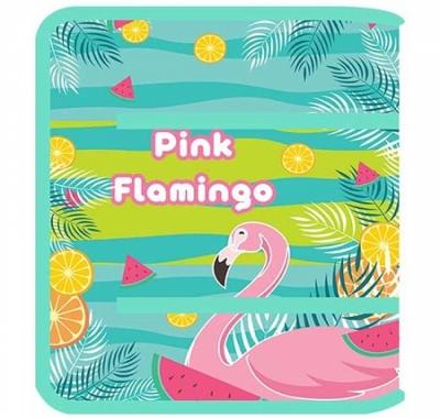 Папка для труда Пчелка А4 Pink Flamingo 2021, молния вокруг