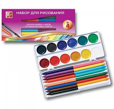 Набор для рисования Луч №4, пластиковая коробка в картонной упаковке