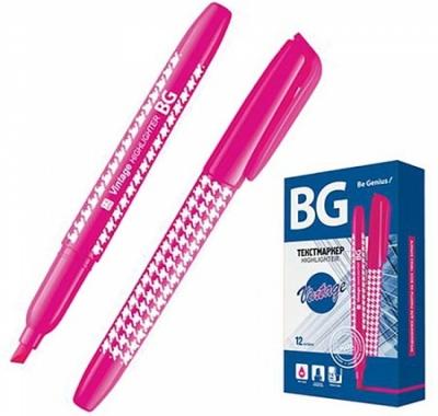 Текстовыделитель БиДжи розовый 1-4мм