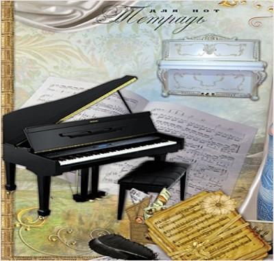Тетрадь для нот Проф-Пресс А4 16л Клавишные