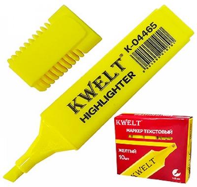Текстовыделитель KWELT желтый 1-5мм