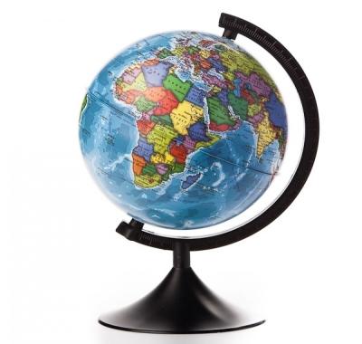 Глобус Globen Земли Политический Классик, подставка пластиковая черная