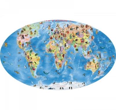 Карта настенная для детей, Страны и народы мира