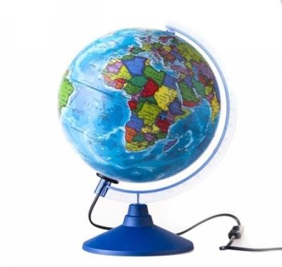 Глобус Globen Земли Политический с подсветкой Классик Евро