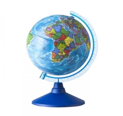 Глобус Globen Земли Политический  Классик Евро, подставка пластиковая голубая