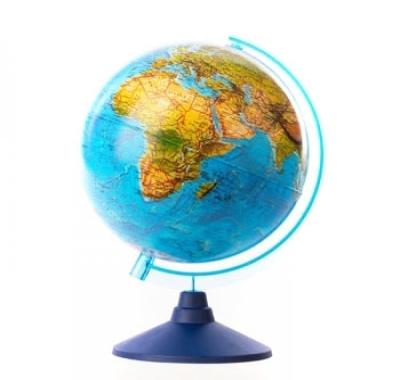 Глобус Globen Земли Ландшафтный 250мм Классик Евро, подставка пластиковая голубая