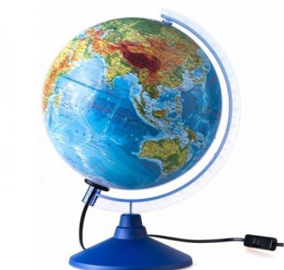 Глобус Globen Земли  Физико-Политический  с подсветкой