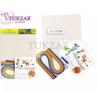 Набор для квиллинга Tukzar А4 с контурным рисунком, ширина полосок 5мм, инструмент в комплекте