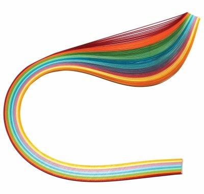 Бумага для квиллинга «Радуга» 7 мм