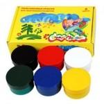 Краски пальчиковые Каляка-Маляка 6цв 60мл для малышей 1+ пастельные цвета