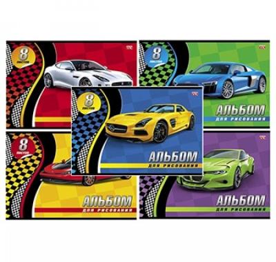 Альбом А4 8л Hatber VK Спортивные авто (ассорти)