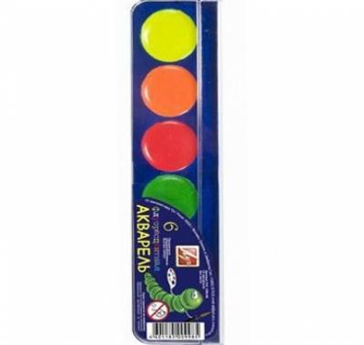 Акварель Луч Флуоресцентная 6цв без кисти, пластиковая упаковка