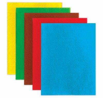 Цветной фетр для творчества, А4, 2мм, 5 листов,  5 цветов