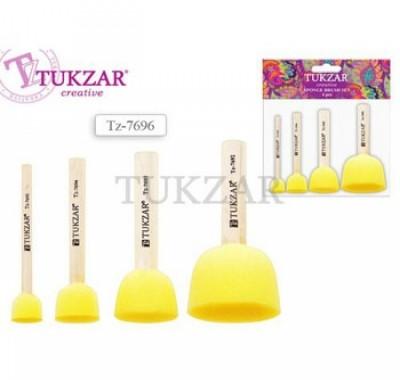 Набор кистей-спонжей Tukzar 4шт (15, 20, 30, 40мм)